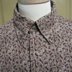 NWT Tommy Hilfiger Lng Sl Corduroy Paisley Shirt
